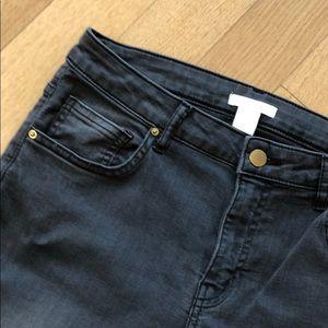 H&M Jeans - H&M Stretch Skinny Jeans / Grey / Petite
